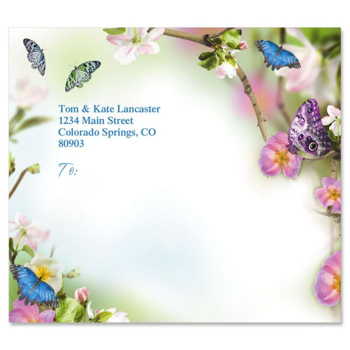 Butterfly Delight Package Labels
