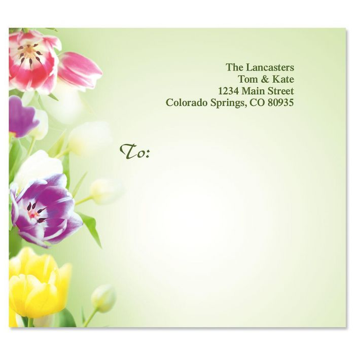 Fresh Tulips Package Labels