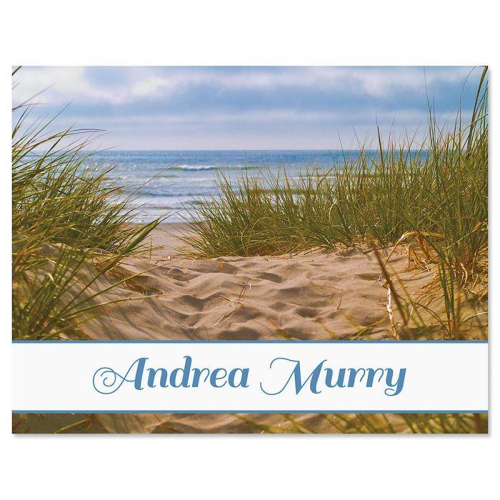 Beach Path Custom Note Cards