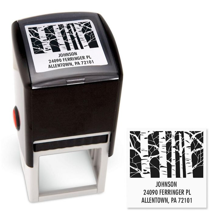 Trees Square Address Stamp