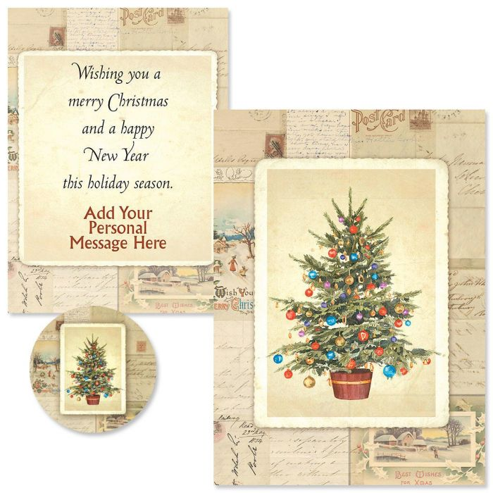 Victorian Tree Christmas Cards