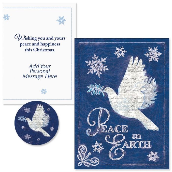 Snow Dove  Christmas Cards -  Personalized