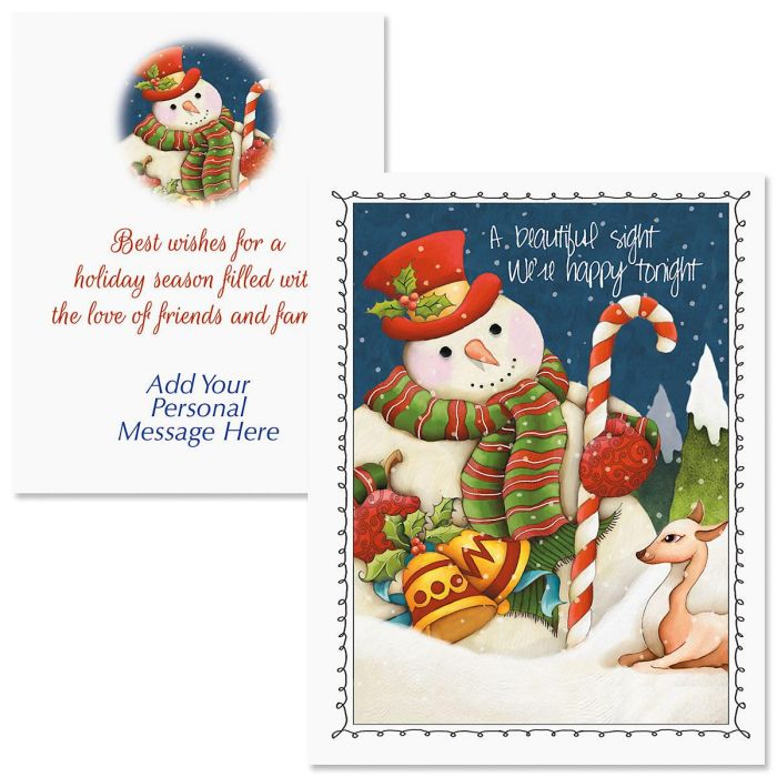 Forest Friends Note Card Size Christmas Cards | Colorful Images
