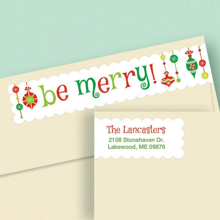 Be Merry Connect Wrap Diecut Address Labels