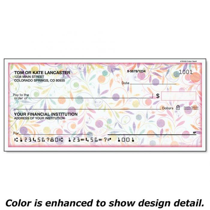 Color Swirl Duplicate Checks
