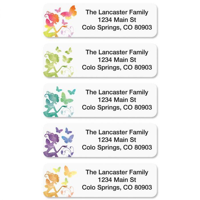 Fairy Rolled Return Address Labels  (5 Designs)
