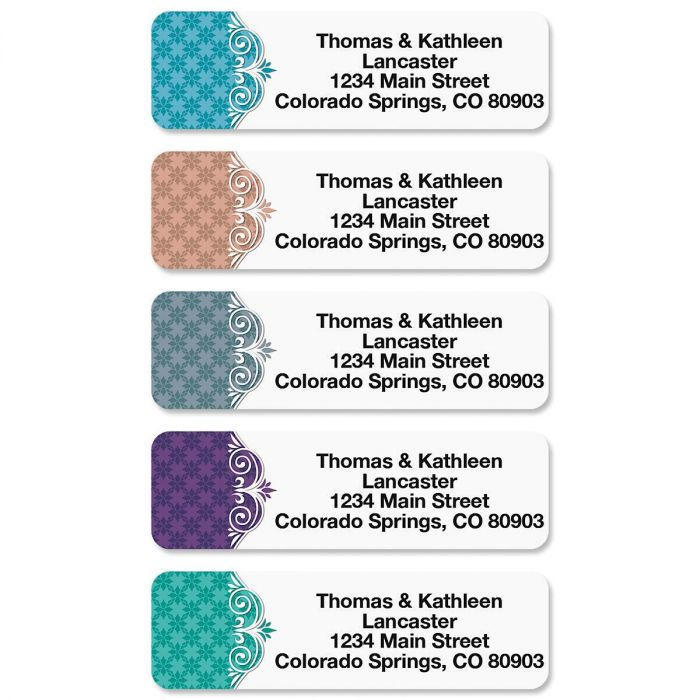 Suave Rolled Return Address Labels  (5 Designs)