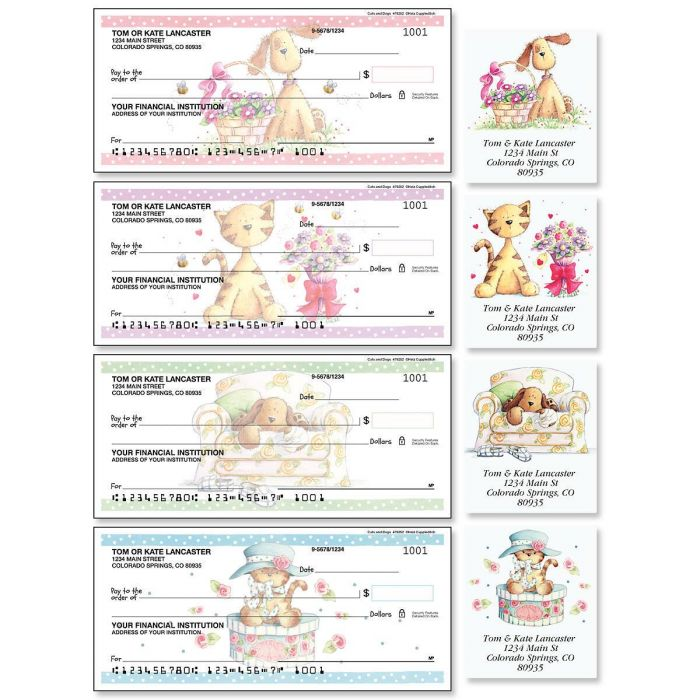 Cats & Dogs Duplicate Checks with Matching Address Labels