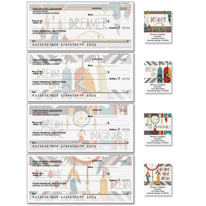 Dreamcatchers Single Checks with Matching Address Labels