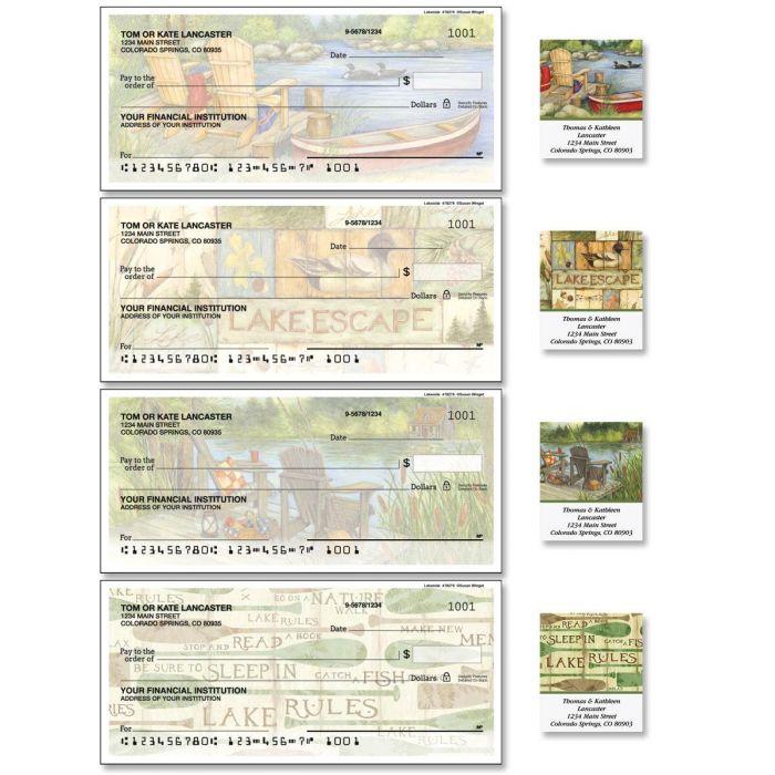 Lakeside Single Checks with Matching Address Labels