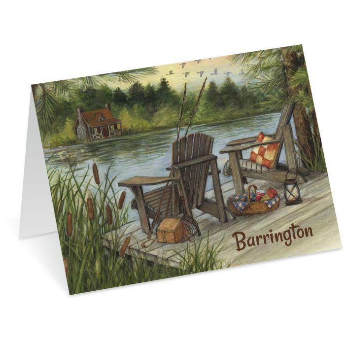 Lakeside Custom Note Cards
