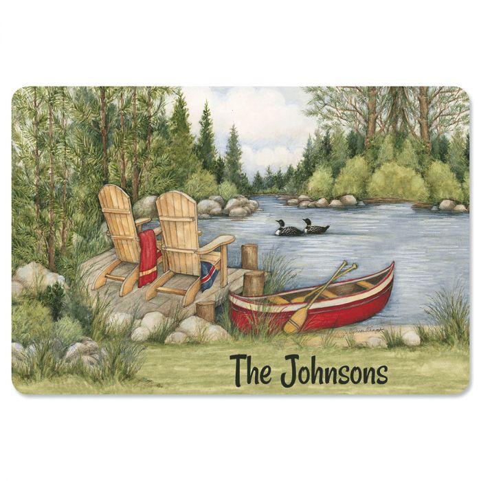 Personalized Lakeside Doormat