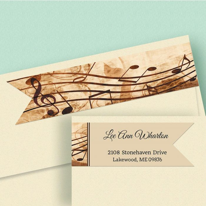 Sheet Music Connect Wrap Diecut Address Labels