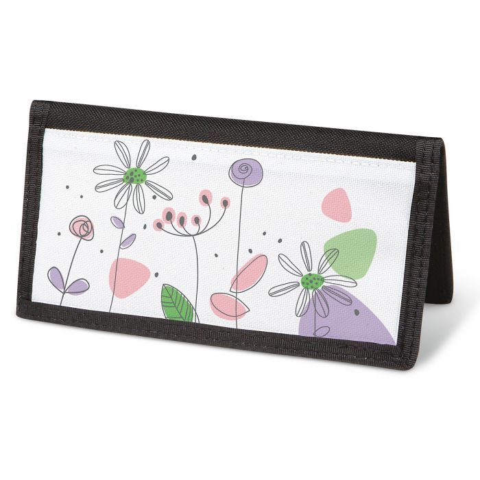 Sketched Flowers  Checkbook Cover - Non-Personalized