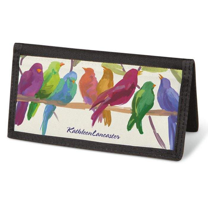 Flocked Together  Checkbook Cover - Personalized