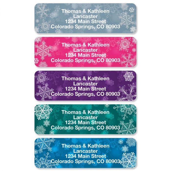 Snowflake Rolled Return Address Labels
