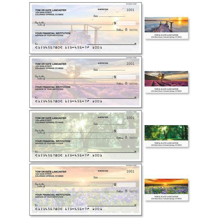 Art of Nature Single Checks with Matching Address Labels
