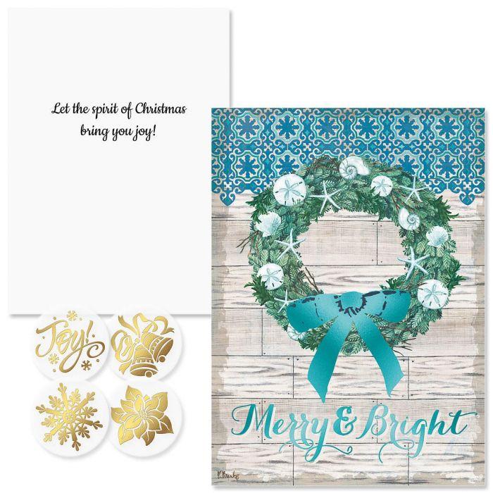 Coastal Christmas Christmas Cards- Nonpersonalized