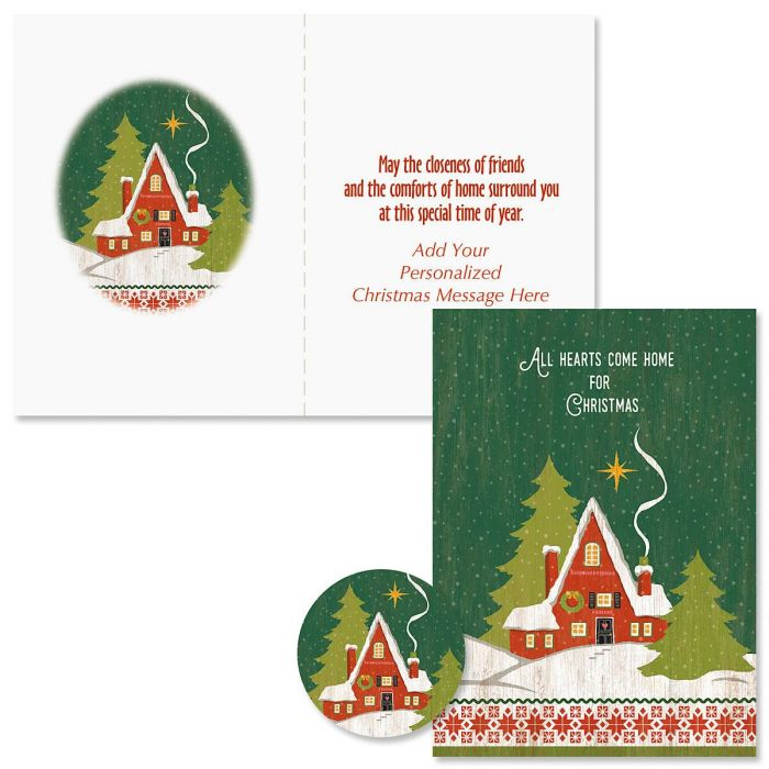 Hearts Come Home Christmas Cards - Personalized