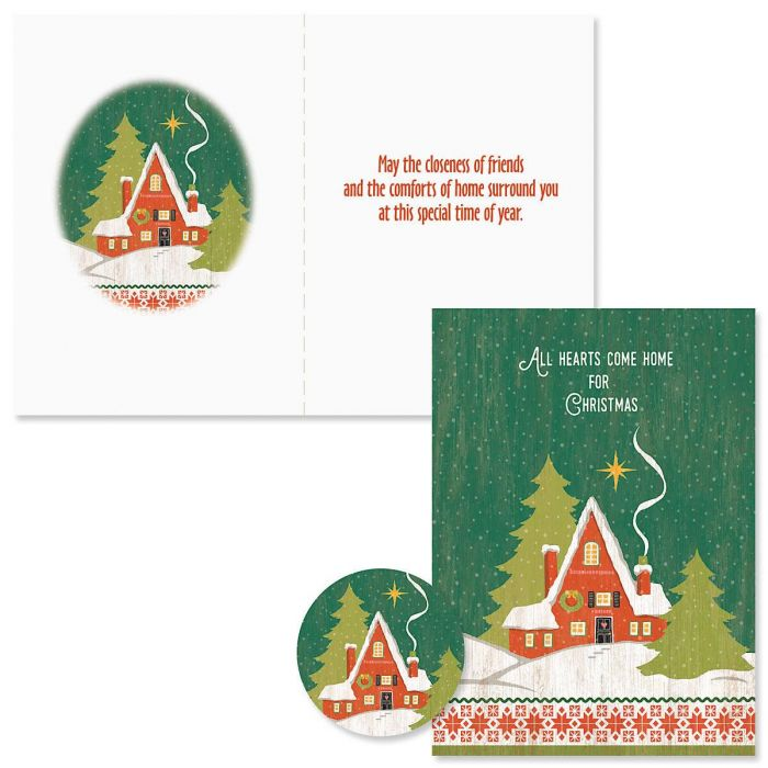 Hearts Come Home Christmas Cards - Nonpersonalized