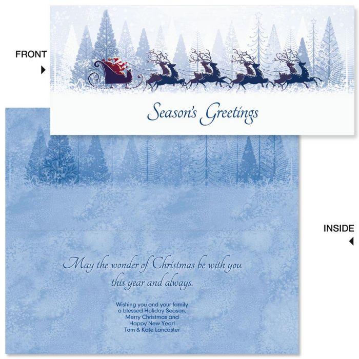 Winter Sleigh Slimline Holiday Cards
