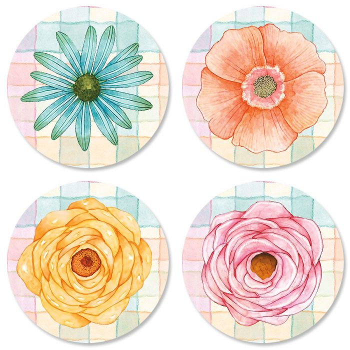 Sentiment Garden Envelope Seals  (4 Designs)