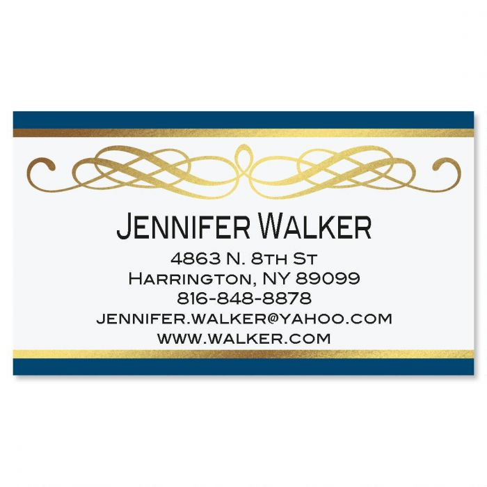 Sapphire Gold Foil Business Cards
