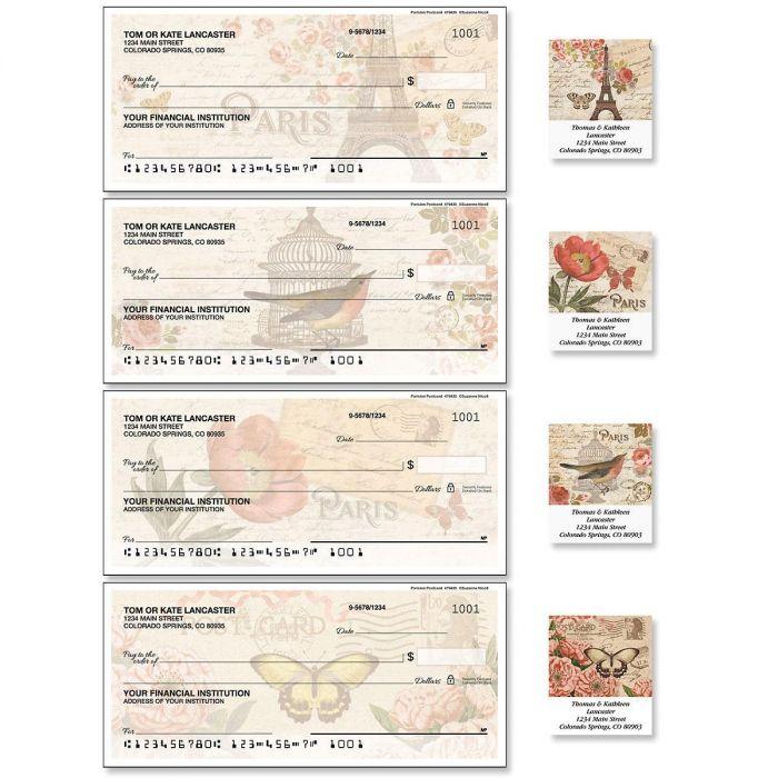 Parisian Postcard Duplicate Checks with Matching Address Labels