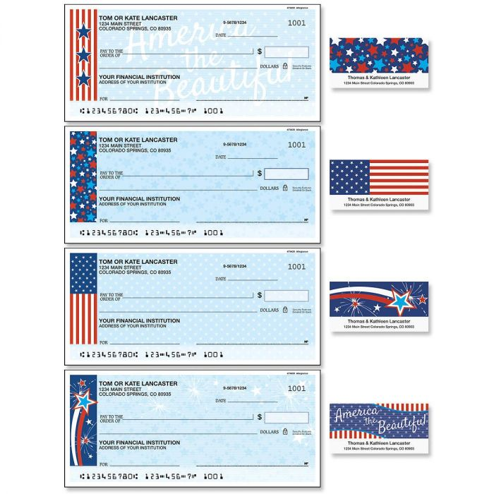 Allegiance Single Checks with Matching Address Labels