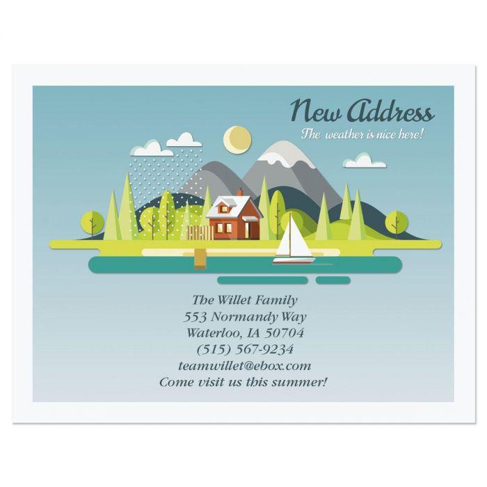 Fair Weather New Address Postcards