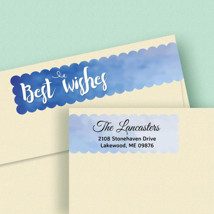 Assorted Greetings Connect Wrap Diecut Return Address Labels  (8 Designs)