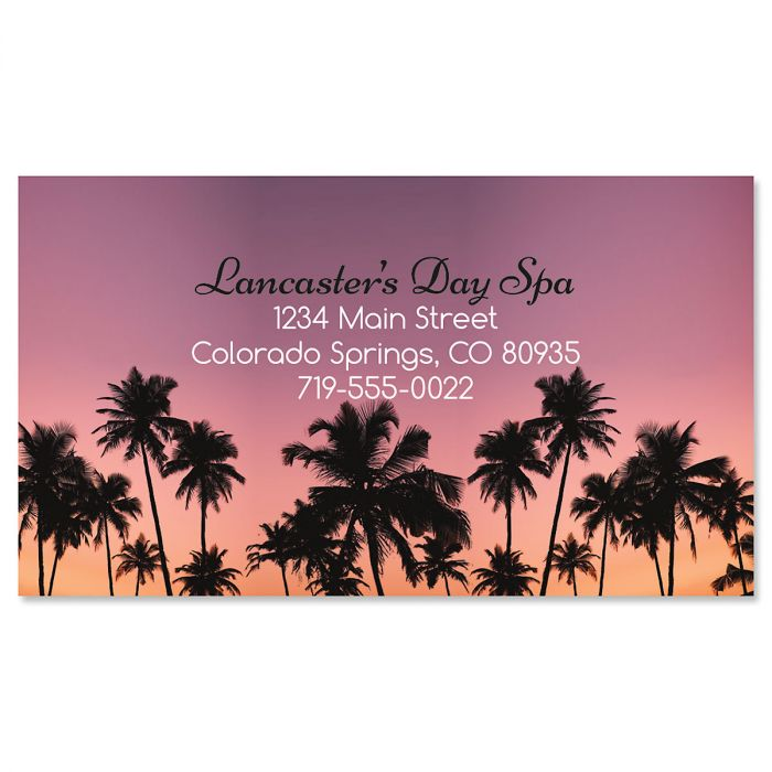 Coral Sunset Business Cards