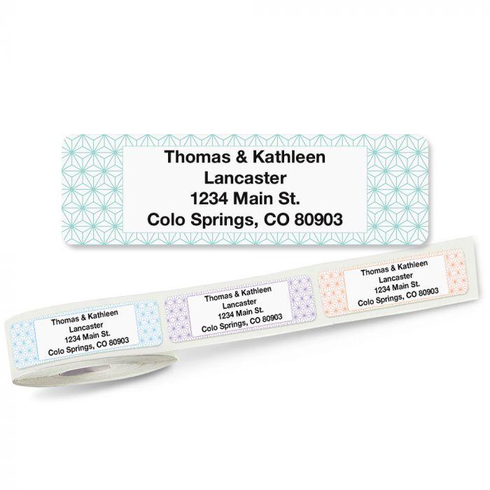 Isometric Rolled Return Address Labels (5 Designs)