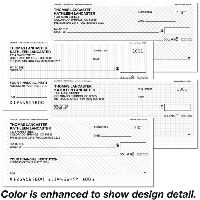 Clean and Simple Personal Checks