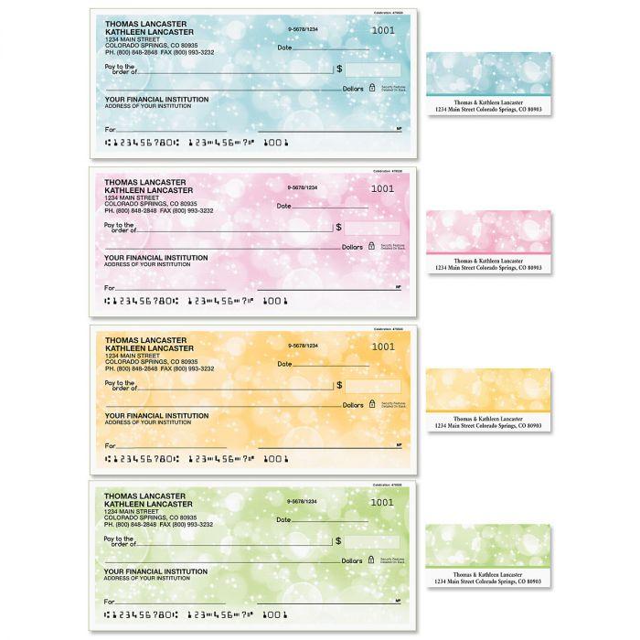 Celebration Single Checks with Matching Labels
