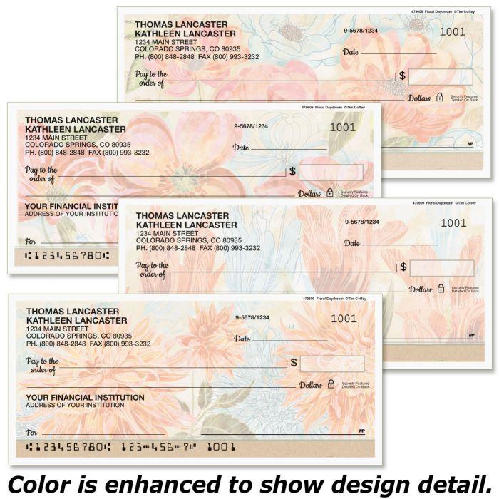 Floral Daydream Personal Checks