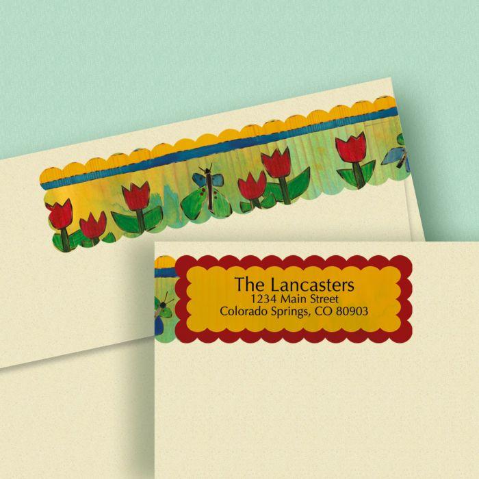 Lovely Garden Connect Wrap Diecut Address Labels (4 Designs)