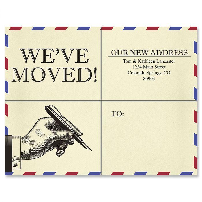 We've Moved Address Retro Postcards