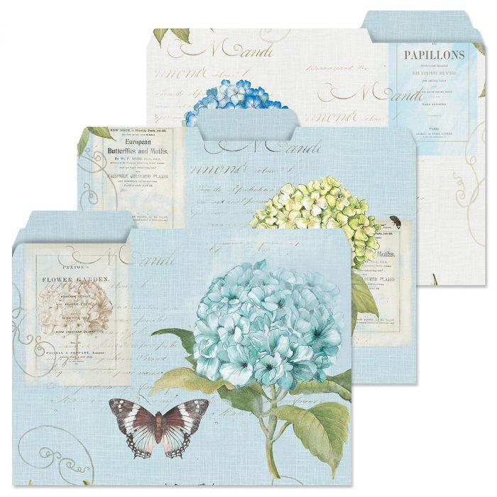 Hydrangea Nature File Folders