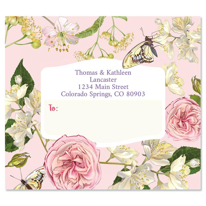 Butterfly Garden Personalized Package Labels