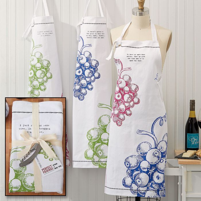 Wine Aprons with Corkscrew