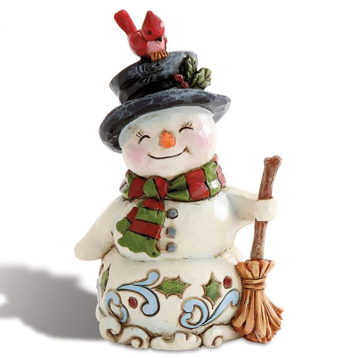 Mini Snowman with Broom by Jim Shore