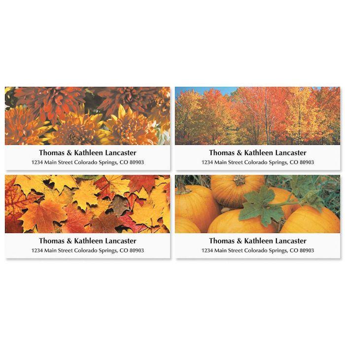 Autumn Deluxe Address Labels  (5 designs)