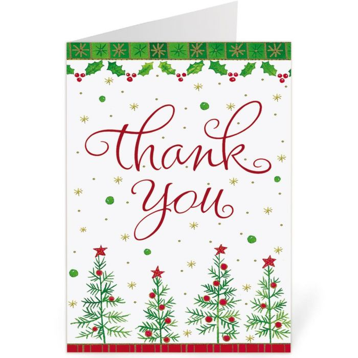 Holiday Custom Thank You Note Cards -  Buy 1, Get 1 Free