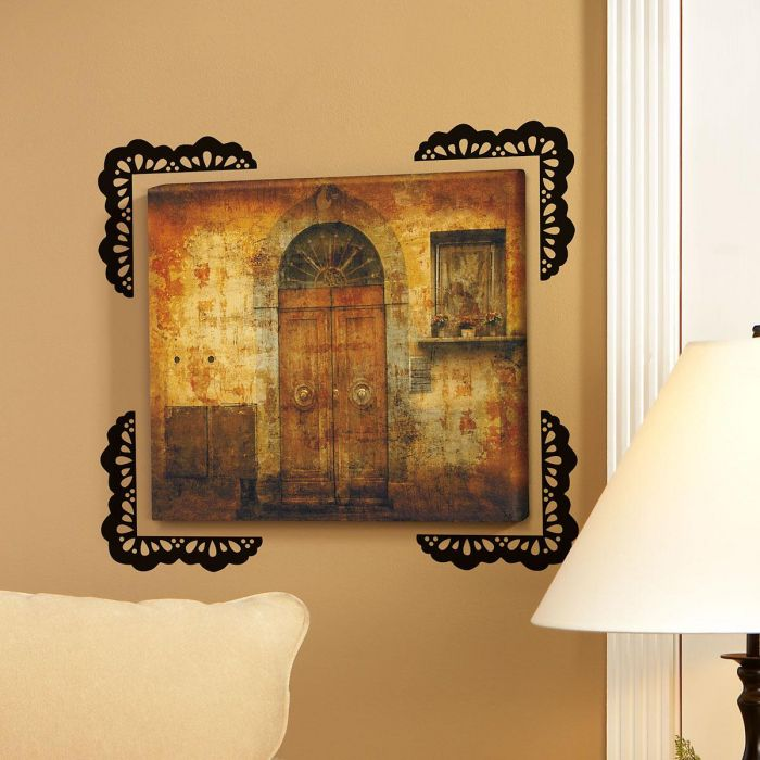 Lace Design Black  Vinyl Wall Frame