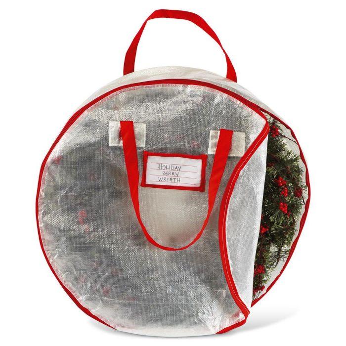 Wreath Storage Bag Loading.