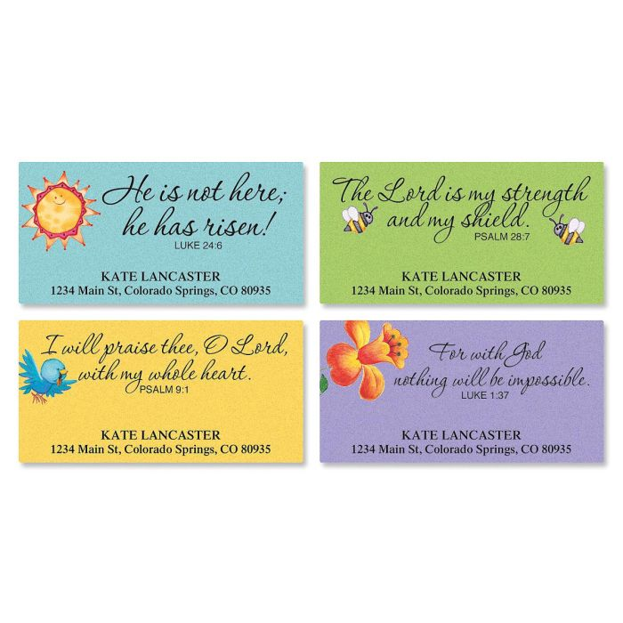 Easter Faith Deluxe Address Labels  (4 designs)