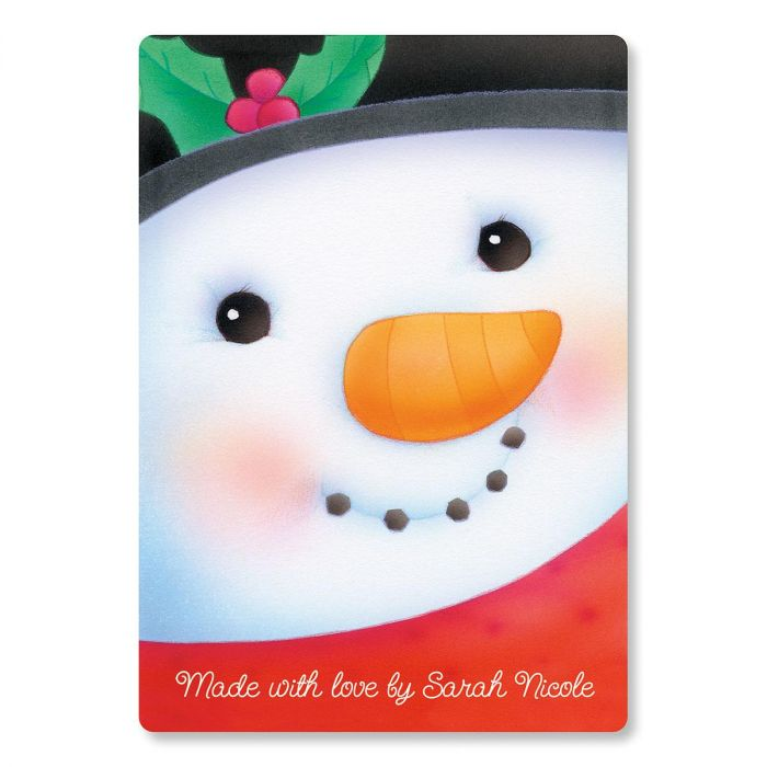 Snowman Glass Custom Cutting Board