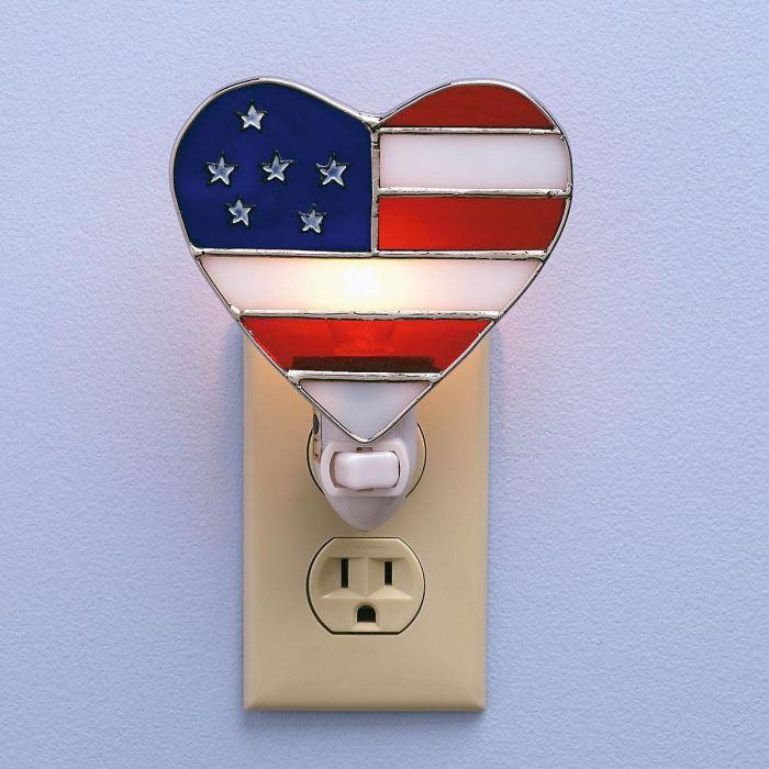 Patriotic Heart NightLight