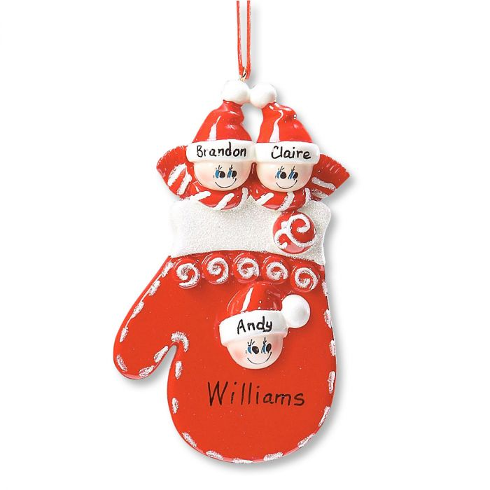 Mitten Family Custom Ornament-3 Faces